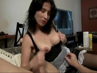 Maid Gives A Handjob And..