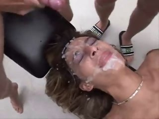 Turkish Slut gets gangbanged..
