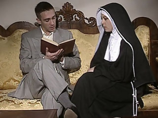 Shy Nun gets her ass fucked..