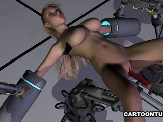 Busty 3D Babe Fucked by a..