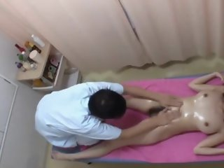 Japanese girl getting massage