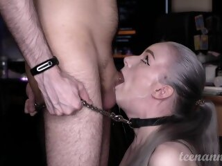He tied me to his cock and..