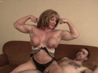 Mature blonde muscle maven..