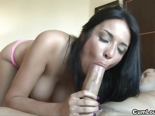 Anissa Kate jerks a Cock..